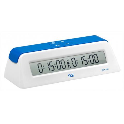 Часы шахматные DGT 1001 белые и синие