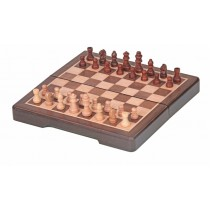 Карманные шахматы из дерева 16,4 см