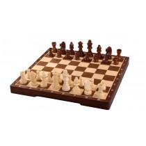Шахматы из натурального дерева магнитные материал орех 30.4 см