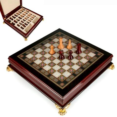 Деревянные шахматы подарочные 40x40x9 см