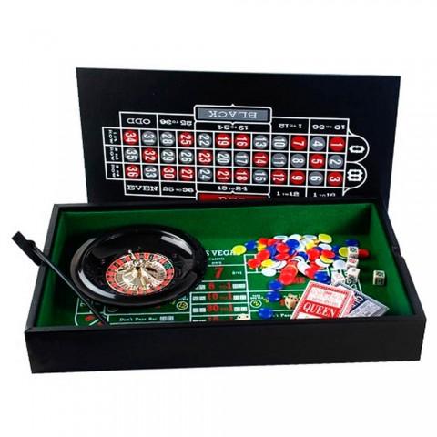 Игровой набор Duke 38-2820 рулетка и мини покер с фишками