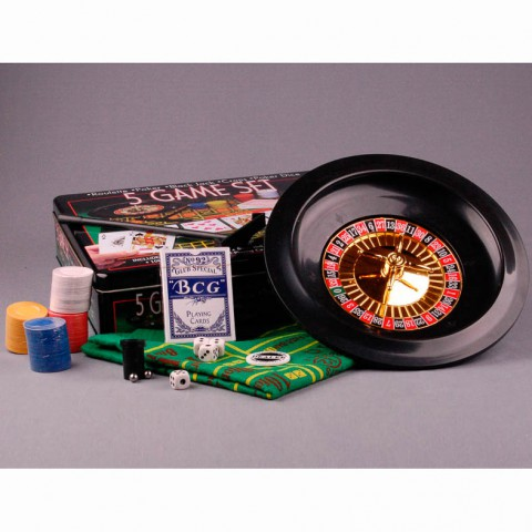 Игровой набор 5 в 1 Lefard рулетка, покер, блэкджек, покер и крэпс.