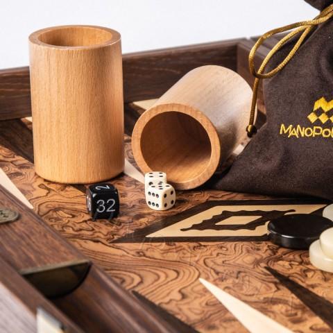Набор нарды орех дуб коричневый перламутр 48x30 см