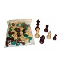 Шахматные фигуры в пакете деревянные Wegiel C-191c стаунтон №6