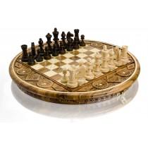 Резная шахматная доска ручной работы Madon C-100 Рубин светлый