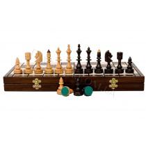 Резные шахматы из дерева Madon C-123 Индийские с вкладкой (Indyjskie)