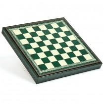 Шахматное поле-бокс с местом для укладки шахмат зеленое Nigri Scacchi CD33 33x33x4см