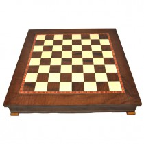 Шахматное поле-бокс с местом для укладки шахмат коричневое Nigri Scacchi CD33G 33x33x4 см