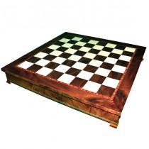 Шахматное поле-бокс с местом для укладки шахмат Nigri Scacchi CD52G 35x35x4см