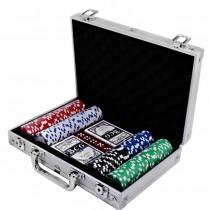 Набор для покера Duke CG-11200 в алюминиевом кейсе на 200 фишек