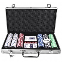 Набор для покера Duke CG-11300 в алюминиевом кейсе на 300 фишек