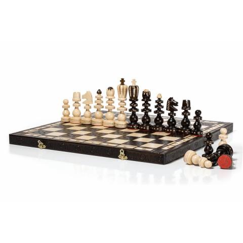 Деревянные шахматы ручной работы рымские Roman 55 см