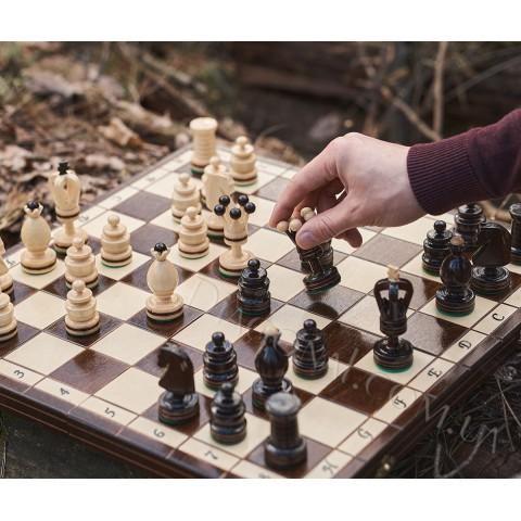 Шахматы королевские деревянные инкрустированные Kings 49 см