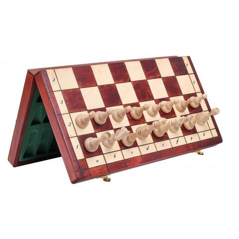 Магнитные деревянные шахматы доска футляр 38x38 см