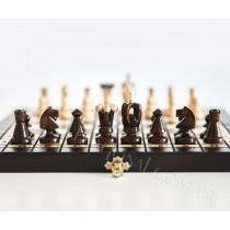 3 в 1 Шашки Шахматы Нарды деревянные подарочные размер 35x35 см
