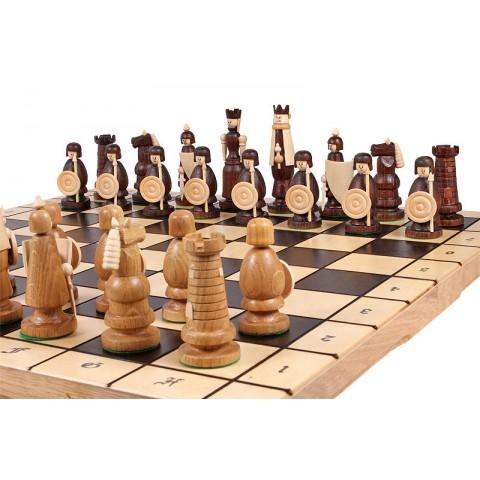 Шахматы Магнат из цельного дерева 55 см