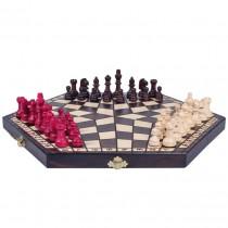 Деревянные шахматы на троих средние Sunrise Poland 35 см CH163