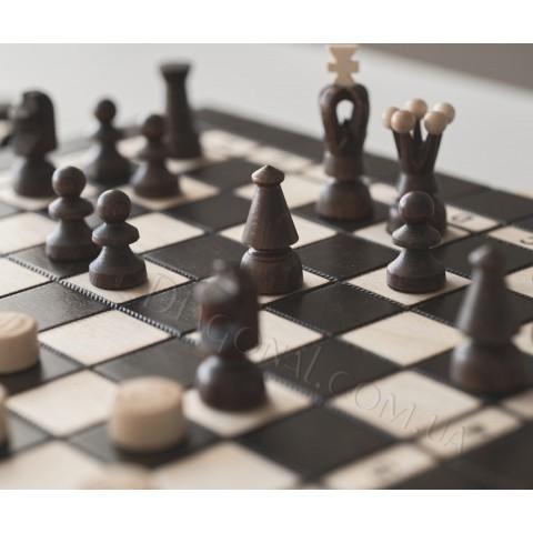 Шахматы Шашки набор 2 в 1 35x35 см CH165A