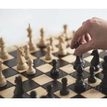 Деревянные шахматы шашки 2 в 1 доска размер 47 см