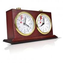 Механические шахматные часы BHB коричневые 18,8 см