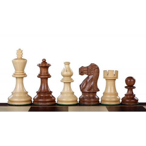 Резные шахматные фигуры Американс Стаунтон №5 коричневые