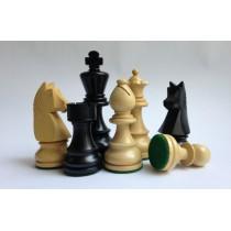 Фигуры шахматные Немецкий Стаунтон №6 черные