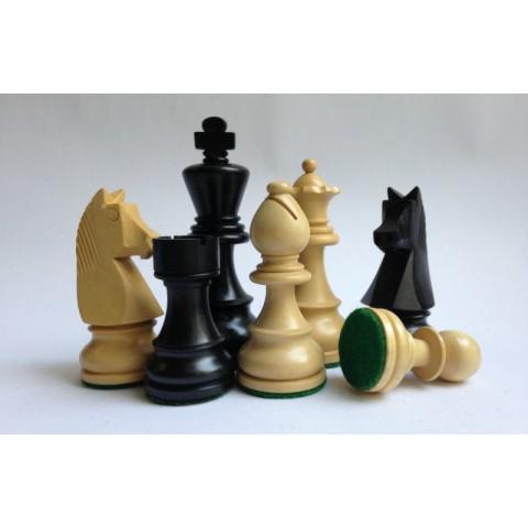 Шахматы фигуры Немецкий Стаунтон №6 черные