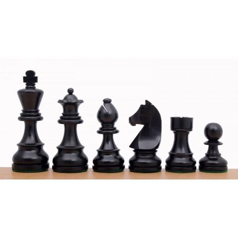Большие шахматные фигуры Немецкий Стаунтон №7 черные