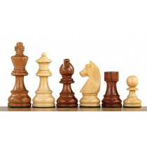 Настольные шахматные фигуры Немецкий Стаунтон №4 коричневые