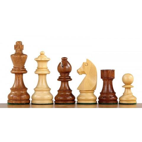 Шахматы фигуры Немецкий Стаунтон №7 коричневые