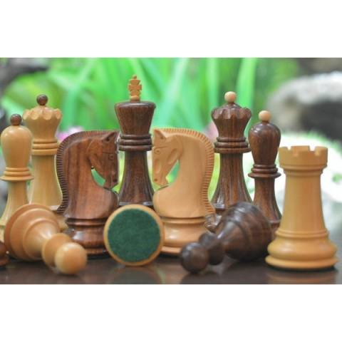 Резные шахматные фигуры Загреб №6 коричневые