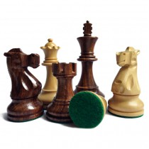 Фигуры шахматные с матча Фишер-Спасский коричневые