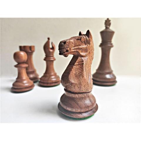 Индийские шахматные фигуры Суприм (Supreme) №7 коричневые