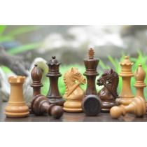 Шахматные фигуры Обузданный конь №6 коричневые