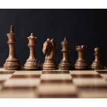 Шахматные фигуры деревянные Колумбийский конь номер 6 коричневые
