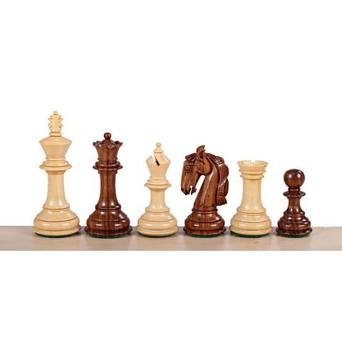 Набор шахматных фигур Колумбийский конь №5 коричневые