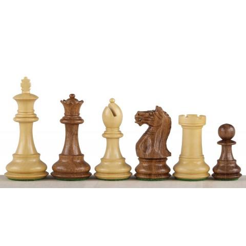 Шахматные фигуры деревянные Oxford коричневые №5