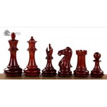 Резные шахматные фигуры №6 красное дерево