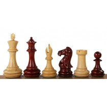 Фигуры для шахмат резные №7 Champfered base красное дерево