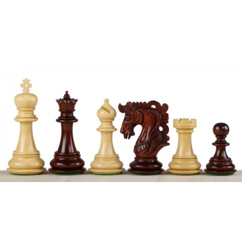 Большие шахматные фигуры Элвис красное дерево №7