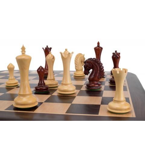 Большие шахматные фигуры Империя №7 красное дерево