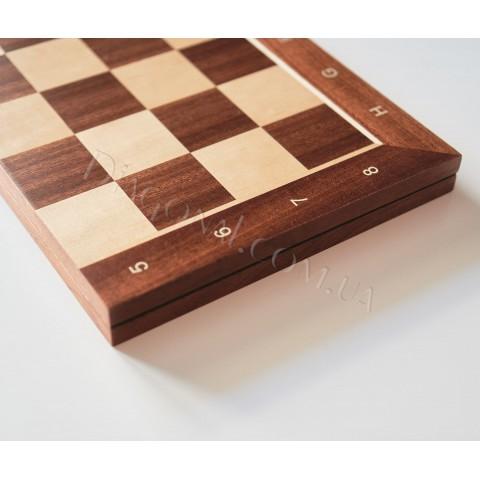 Шахматная доска красное дерево №6, 7 размер 54 см