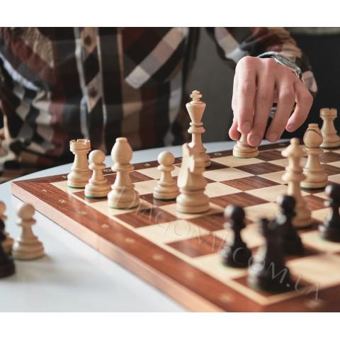 Резные шахматные фигуры Стаунтон (Staunton) №7 в пакете CHW28