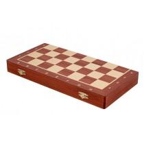 Деревянная шахматная доска №6 красное дерево складная