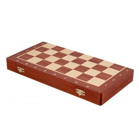 Деревянная шахматная доска футляр №5 красное дерево