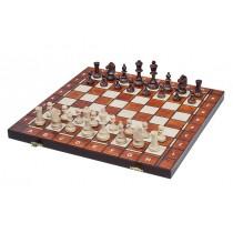 Деревянный Набор шахматы шашки нарды 3 в 1 размер 42 см