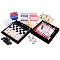 Игровой набор Кубик 6 в 1 Duke 2 колоды карт, шахматы, шашки, нарды, домино и кости