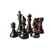 Металлические шахматные фигуры большого размера