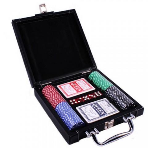 Покерный набор Duke DL-100 в кожаном кейсе