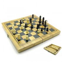 Набор 3 в 1 шашки, шахматы, нарды 24х12 см